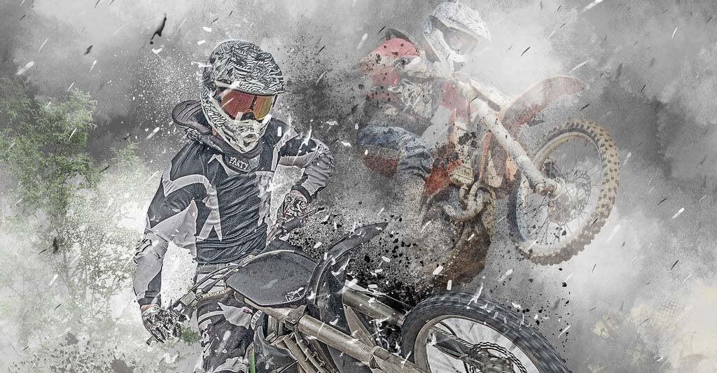 Der Sport Motocross wird dir so viel Spaß machen, dass es dir egal ist, wenn es regnet.