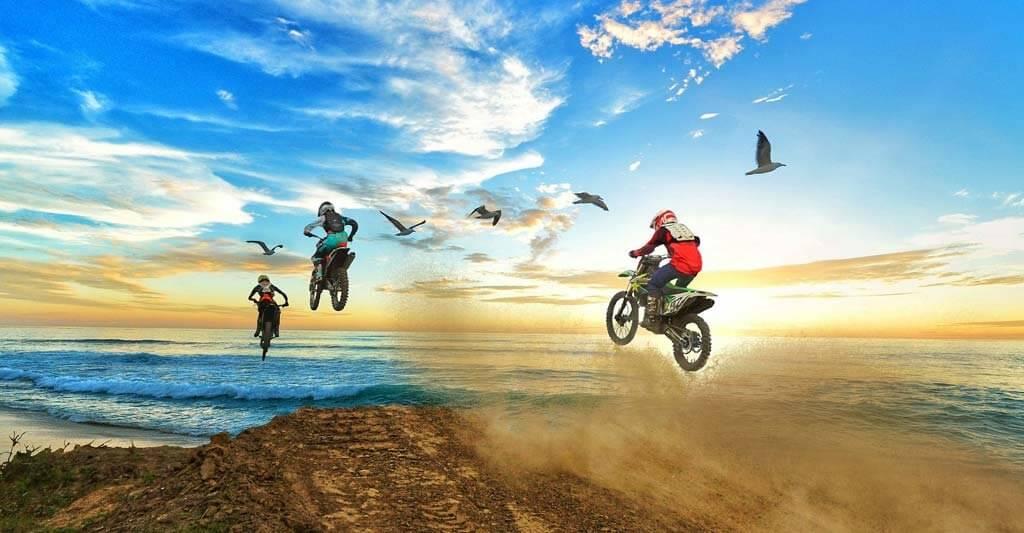 Beachte, dass Airbag Weste nicht unbedingt für die Sportart Motocross geeignet ist.